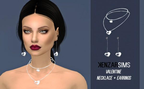 Kenzar Sims: Valentine Necklace+Earrings