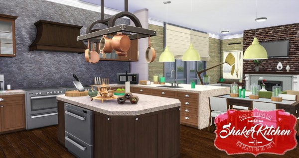 Simsational designs shaker kitchen sims 4 downloads for Sims 4 kitchen designs