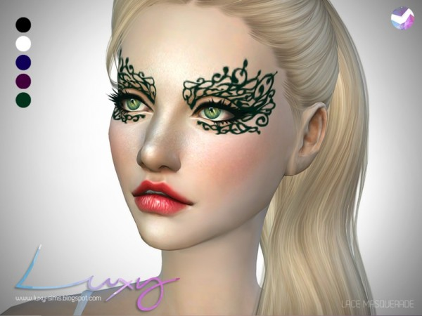 The Sims Resource: Lace Masquerade by LuxySims3