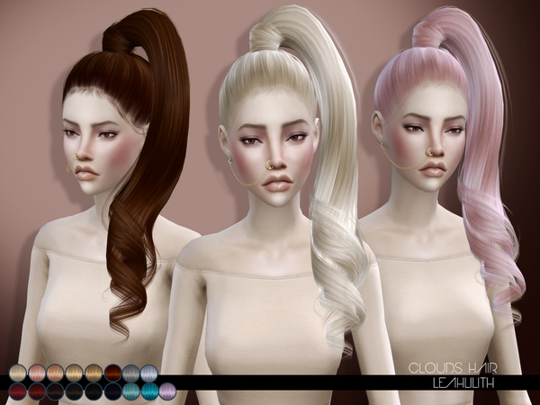 The Sims Resource Leahlillith Clouds Hair Sims 4 Downloads