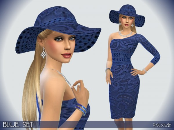 The Sims Resource: Blue Set by Paogae
