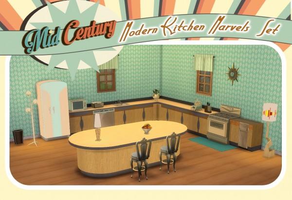 Sims 4 Designs: Mid Century Modern Kitchen Marvels
