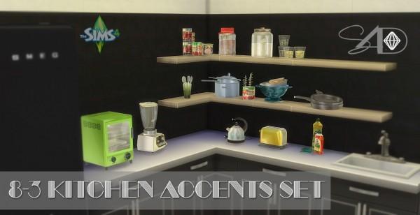 Sims 4 Designs: Kitchen Accents Set