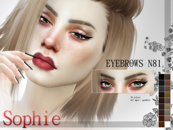 The Sims Resource Fashionista Eyebrow Pack N11 By