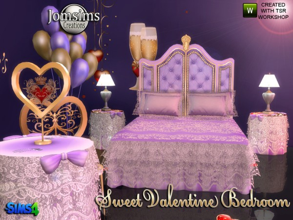 The Sims Resource: Sweet Valentine Bedroom by jomsims