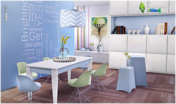 SIMcredible Designs: Color Riffs diningroom