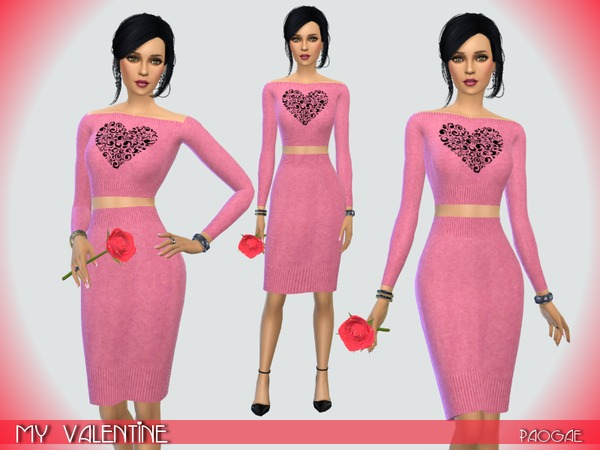 The Sims Resource: My Valentine outfit by Paogae
