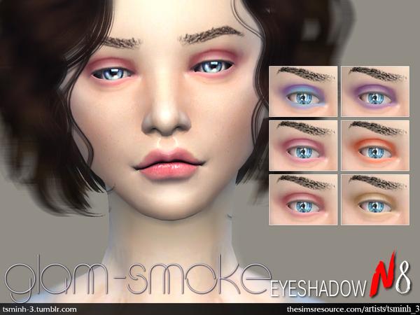 The Sims Resource: Glam Smoke Eyeshadow by tsminh 3