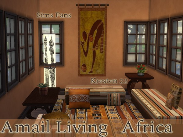 Sims Fans: Amali Living   African Collections by Kresten22