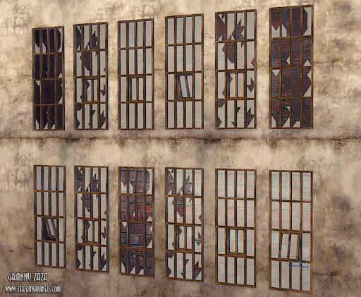 The sims models factory windows conversion by granny zaza for Window factory
