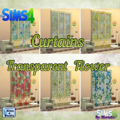 Ladesire Creative Corner: Curtains Trasparent Flowers by Mariska