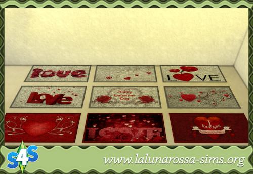 La Luna Rossa Sims: Valentines Rugs