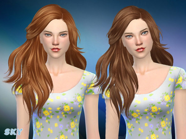 The Sims Resource: Skysims hair 281 Annie