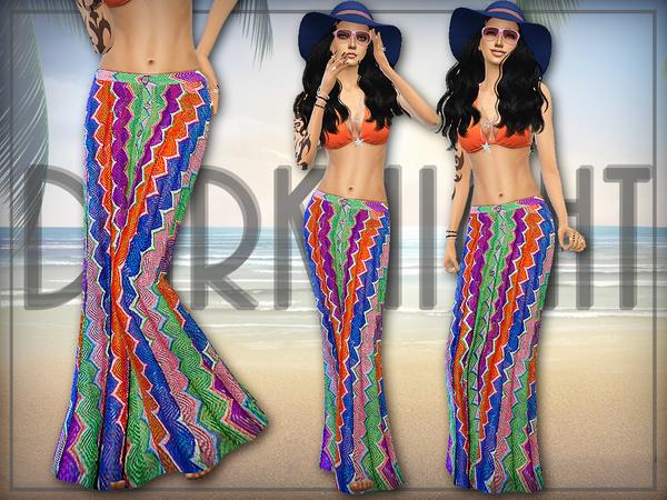 The Sims Resource: Crochet Knit Maxi Skirt by DarkNighTt