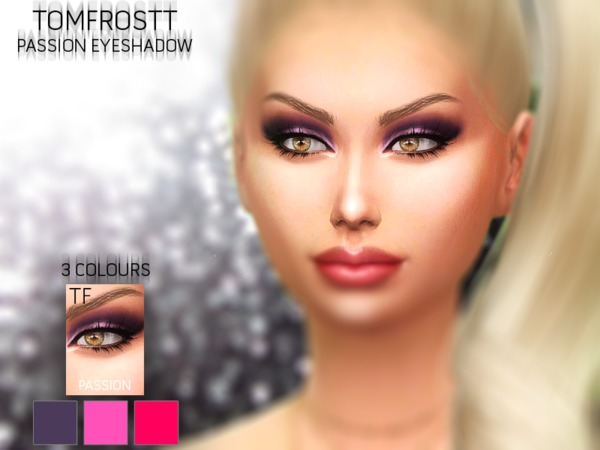 The Sims Resource: Passion Eyeshadows by Tomfrostt