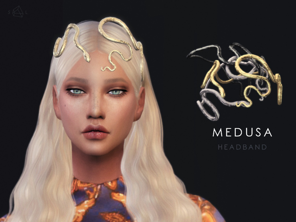 The Sims Resource: Snake headband   Medusa by Starlord