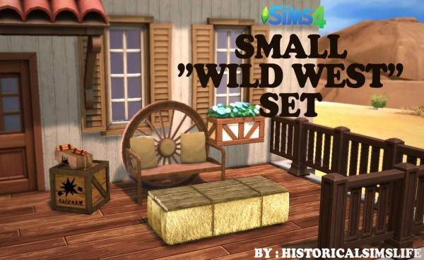 History Lover S Sims Blog Small Wild West Object Set