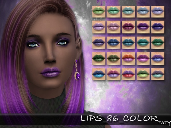 The Sims Resource: Lips 86 Color by Taty