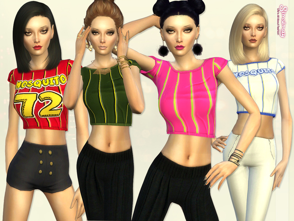 The Sims Resource: Mosquito! Tee Hand Painted Top by Simsimay