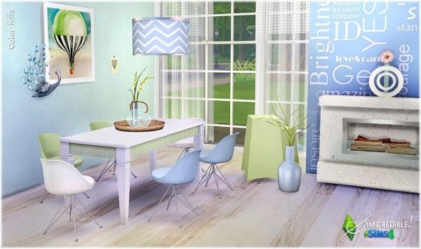 SIMcredible Designs: Color Riffs diningroom