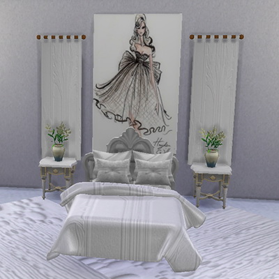 Trudie55: White double bed set 2