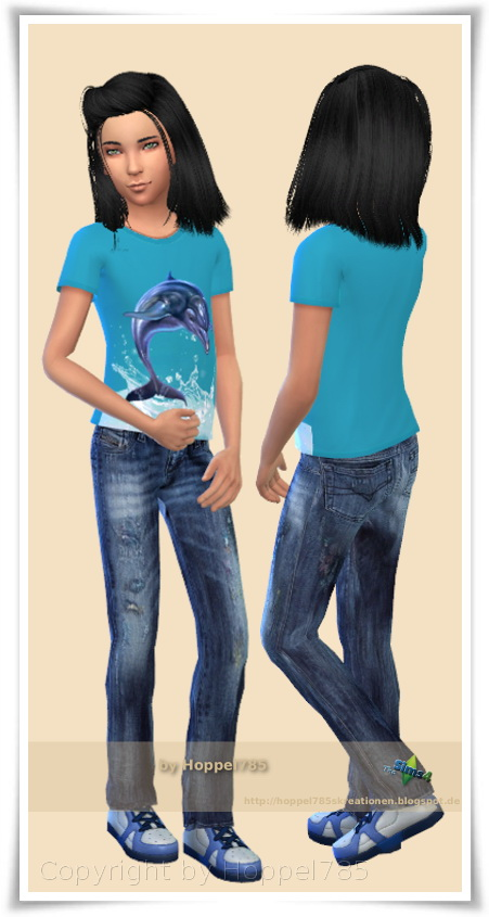 Hoppel785: Collection For Girls: 6 T Shirts, 1 Denim Jeans,1 Jeans Rock