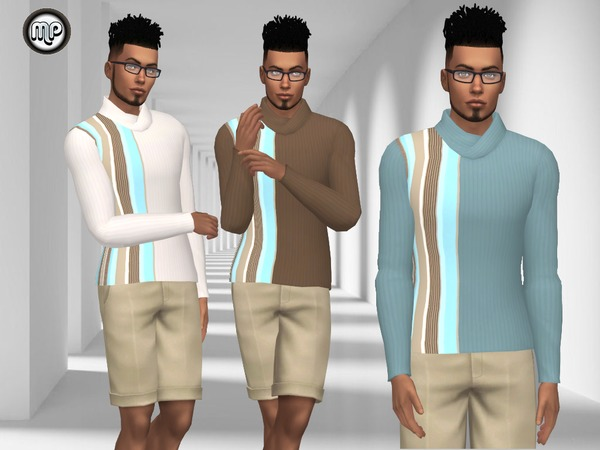 The Sims Resource: MP Simple Male Sweatshirt N1 by MartyP
