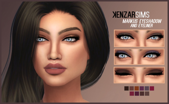 Kenzar Sims: Markus eyeshadow and lipstick