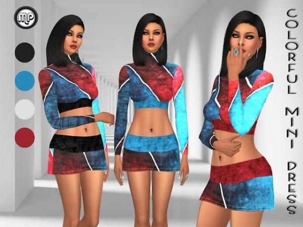 Marty P: Colorful Mini Dress