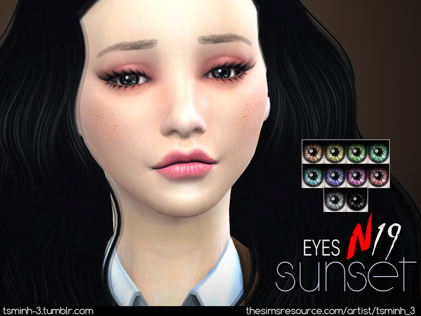 The Sims Resource: Sunset Eyes by tsminh 3