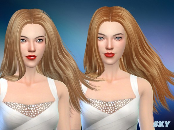 The Sims Resource: Skysims hairstyle 282 Afra