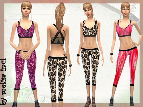 The Sims Resource: Front Close Sport Bra With Tight by melisa inci
