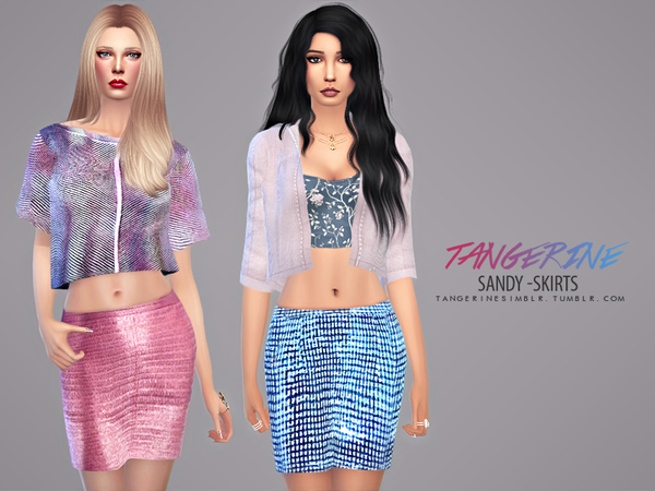 The Sims Resource: Sandy   Skirts by tangerinesimblr