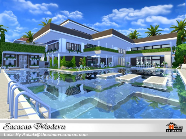 The Sims Resource: Sacacao Modern house by Autaki • Sims 4 Downloads