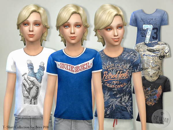 The Sims Resource: T  Shirt Collection for Boys P08 by lillka