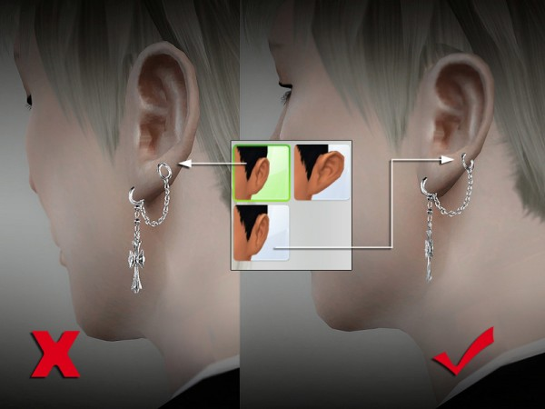 The Sims Resource: Earring 01 by S Club