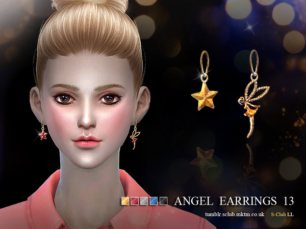 The Sims Resource: Earrings 13 by S Club