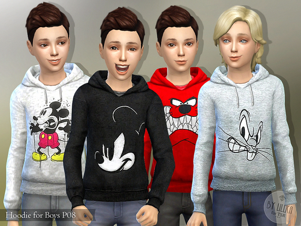 The Sims Resource: Hoodie for Boys P08 by lillka