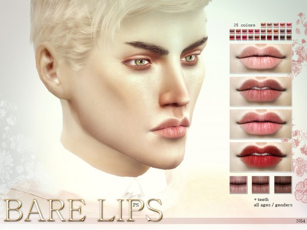 The Sims Resource: Bare Lips N54 by Pralinesims