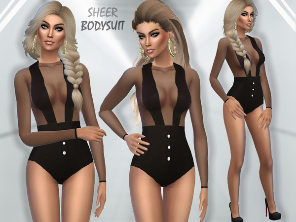 The Sims Resource: Sheer Bodysuit by Puresim