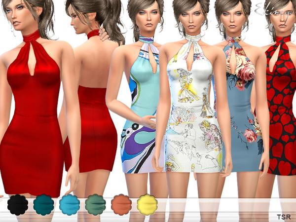 The Sims Resource: Halter Mini Dress by ekinege