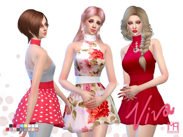 The Sims Resource: ManueaPinny   Viva dress by nueajaa