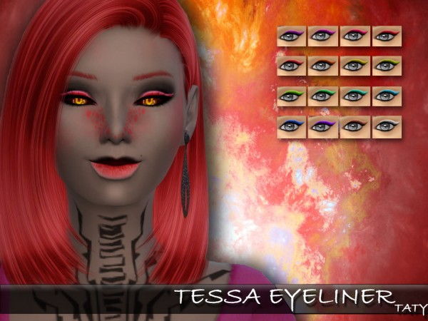 Simsworkshop: Tessa Eyeliner 1.0 by Taty