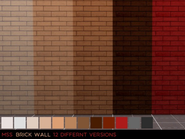 Simsworkshop: Brick walls 1 by midnightskysims