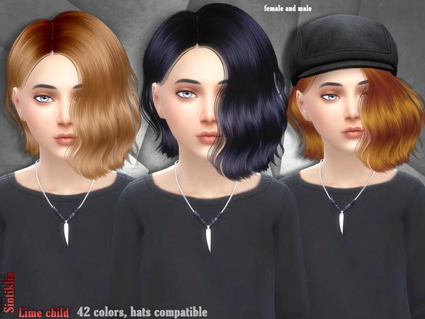 The Sims Resource Sintiklia Hair Lime Child Sims 4