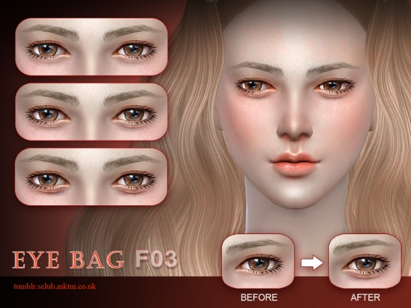The Sims Resource: Eyebag F03 by S Club