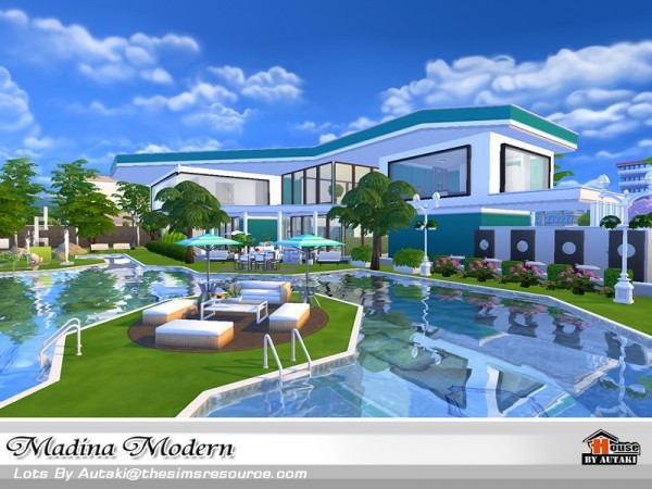 The sims resource madina modern by autaki sims 4 downloads for Home design resources