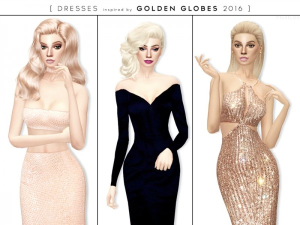 The Sims Resource: Golden Globes 2016   Dresses by itsleeloo