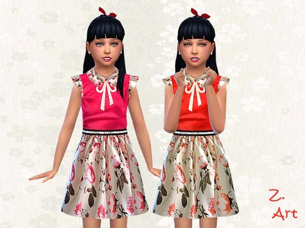 The Sims Resource: Rosalie dress by Zuckerschnute20