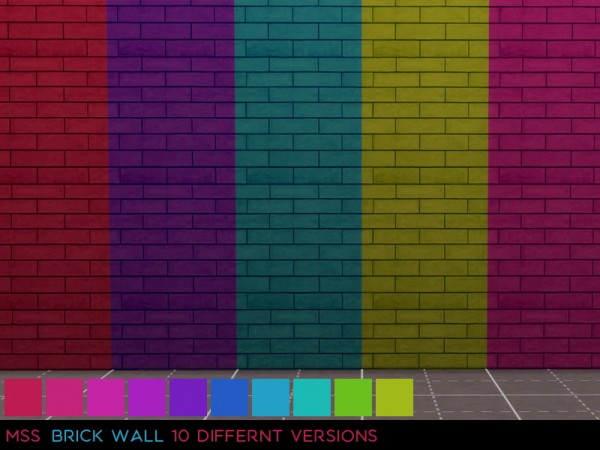 Simsworkshop: Brick Walls 2 by midnightskysims